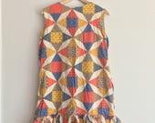 PATCHWORK -  retro shift dress