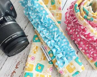 dSLR ruffle camera strap cover -- instaphotos