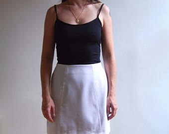 vintage white mini skirt with zipper