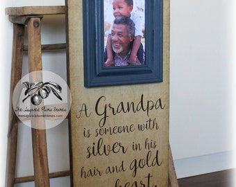 Grandpa Gift Frame, Papa Gift, Grandparent Gifts for Christmas, Grandparents Picture Frame, 16x16 The Sugared Plums Frames