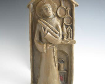 St Paschal Baylon, Patron / Blesser of Cooks and Kitchens: Handmade Statue