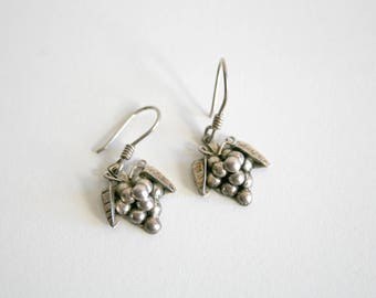 Mexican Taxco Sterling Grape Vine Earrings