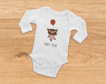 Coming Home Outfit, Bear Onesie, Newborn Baby Gift, Baby Shower Gift, Long Sleeve Onesie, Baby Girl Onesie, Baby Boy Onesie, Baby Bodysuit