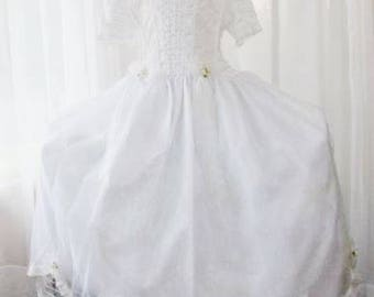 Flower Girl First Communion Dress and Veil Unworn