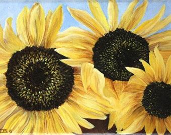 Dutch Sunflowers - Original Oil Painting