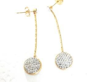 Gold dangle earrings, Dangle earrings Gold, gold earrings, stud earrings long dangle earrings, long earrings gold, gift for her,wedding gift