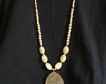 Gold Lacy Leaf Necklace