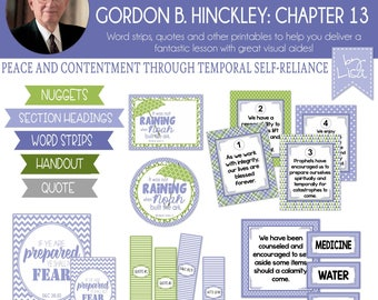 Relief Society Lesson Helps, Gordon B. Hinckley Lesson #13, RS Lesson Aides - Teachings of the Presidents of the Church, PRINTABLE Download