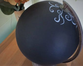 Vintage Globe Chalkboard Message Board