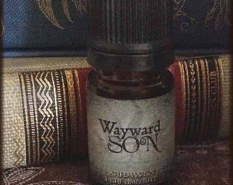 WAYWARD SON Perfume Oil / Gothic Supernatural cologne perfume / vegan mens scent /