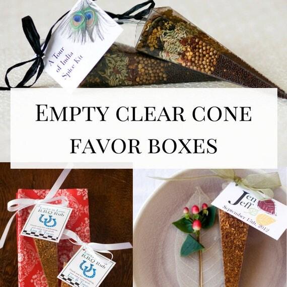 Clear Favor Box Empty Cone Favor Boxes Diy Favor Boxes In Bulk