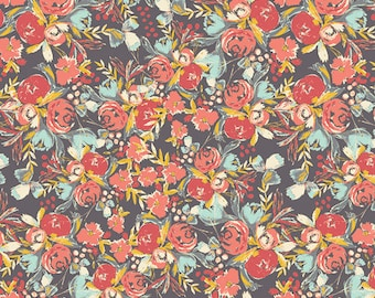 FLOWERFIELDS SUNSET, Bari J Art Gallery Fabric, Modern Farmhouse Nursery, Woodland Fabric, Shabby Chic, Cotton Quilt Fabric By the Yard