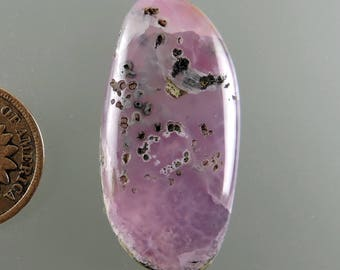 Pink Smithsonite Cabochon, Translucent Pink Smithsonite Cab, Designer Smithsonite, Pendant Cab, Gift Cab, C2380, Handcrafted by 49erMinerals