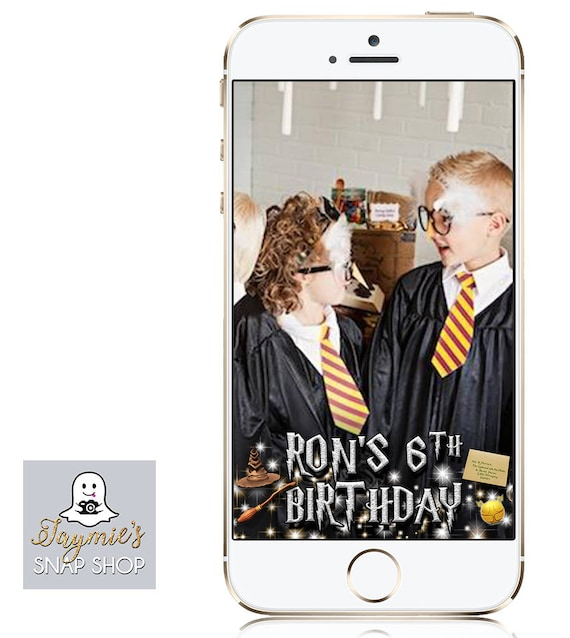Harry Potter themed wizarding Birthday Snap Chat Filter - Customize!
