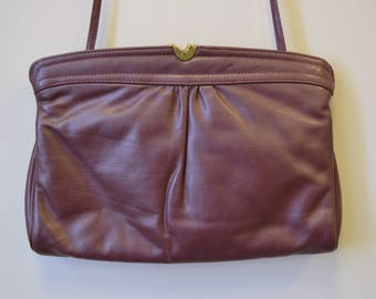 1980s Aigner Oxblood Leather Purse
