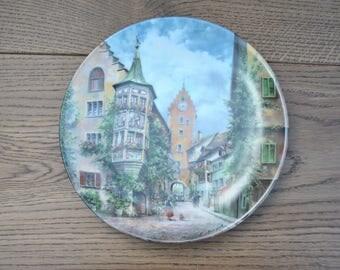 Vintage china plate - Obertortum zu Meersburg - Johann Seltmann - Bradford Exchange - 22-S20-1.1