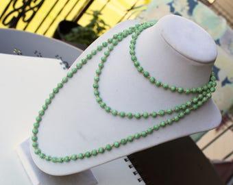 Beautiful Vintage Peking Glass Beaded Flapper Necklace