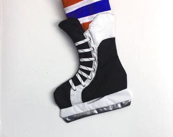 Hockey Skate Stocking- Montreal Canadian hockey Christmas stocking