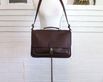 Vintage Coach Briefcase // Metropolitan Brief Bag Brown // Coach Laptop Attache