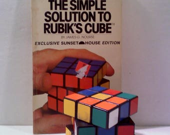 Vintage Rubik's Cube and Solution Book