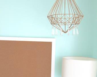 Bohemian Crystal Mobile Chandelier Nursery Baby Room Dorm Decor Modern Geometric Diamond Prism Modern Brass Rose Gold OOAK Artsy Girl Boy