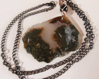 Night beauty  Moss Agate  Pendant 562
