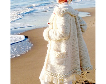 Cortina Coat - Crochet Pattern - Instant Download Pdf