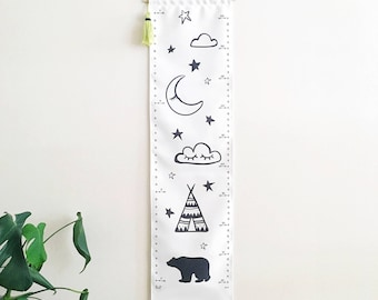Height Chart Personalized Growth Chart Canvas Fabric Growth Chart for Boys Adventure Theme Growth Chart cm Height Chart cm kookinuts Teepee