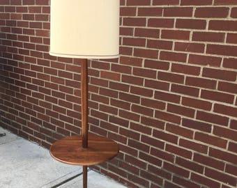 Danish Modern Tray Table Floor Lamp