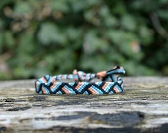 Colorful friendship bracelet, stripes pattern, ltriangle bracelet, colorful stripes bracelet, handwoven (ready to ship)