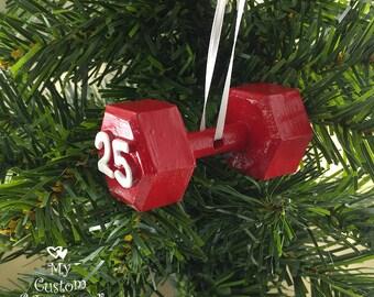 Dumbbell Christmas Ornament