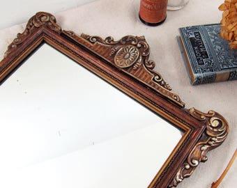 vintage mirror,wall mirror,antique mirror,shabby mirror,art deco mirror,wood mirror,hall mirror,vanity mirror,bedroom mirror, circa 1940