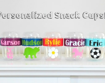 Personalized Snack Cups