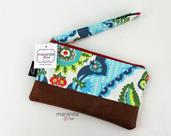 Flat Clutch - Harriet's Kitchen Red READY to SHIp