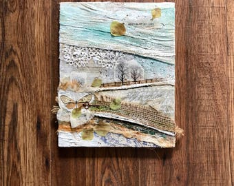 Collage Art, Abstract Landscape, Texture Art, Butterfly In Art
