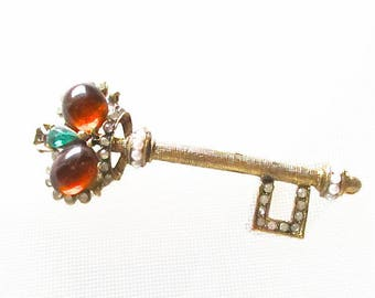 Vintage Crown Sceptre Pin Large Statement Piece