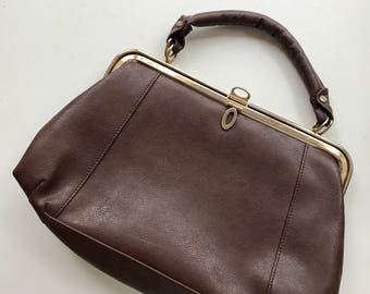 Vintage Fiorelli retro classy brown leather hand bag