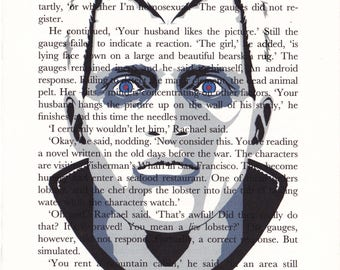 Blade Runner 'Roy' Printed Illustration on Page from 'Do Androids Dream...'