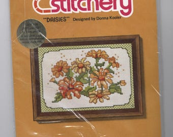 Daisies - Jiffy Stitchery Counted Cross-Stitch Kit