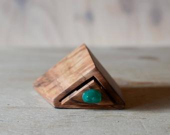 Tiny wood box. wood drawer box. Bandsaw box. miniature box. australian wood. glass drawer knob. western australia. tuart timber