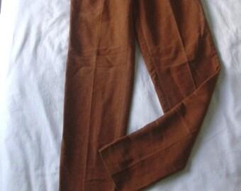 Romeo Gigli Carmel Brown Cotton Pants Waist 30 Inches