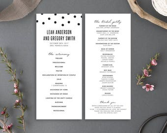 Printable Wedding Program - Chelsea Collection