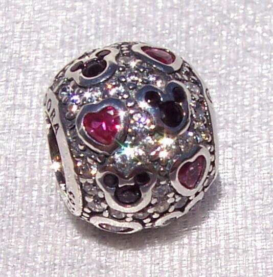 Pandora Disney Sparkling Mickey Hearts Bracelet Charm