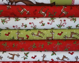 Reindeer Magic Christmas Collection BUNDLE from Henry Glass Fabric (6 Fabrics Plus Panel)
