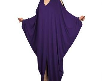 Plus size kaftan/ Plus size maxi dress/ Summer dress kaftan/ Pregnancy maxi dress/ loose fit maxi dress/ Purple maxi dress/ Oversize dress