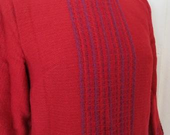 Handwoven Norwegian dress tunic Wool Viking style