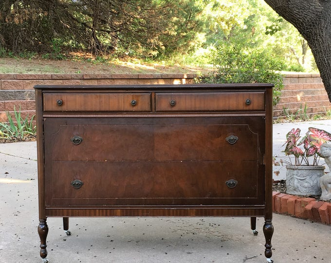 """BATHROOM Vanity TO BE Custom Converted from This Antique Dresser - Renovation - Remodel - Building - 48"""" Wide"""