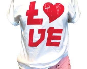 Love. Wedding T Shirt. Bachelorette Shirt. Women's Wide Neck Shirt. Newly Wed T-Shirt. Mom T Shirt. Gift Shirt. Honeymoon Tee. Love T Shirt.