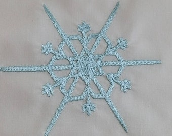 Snowflake Embroidered Quilt block