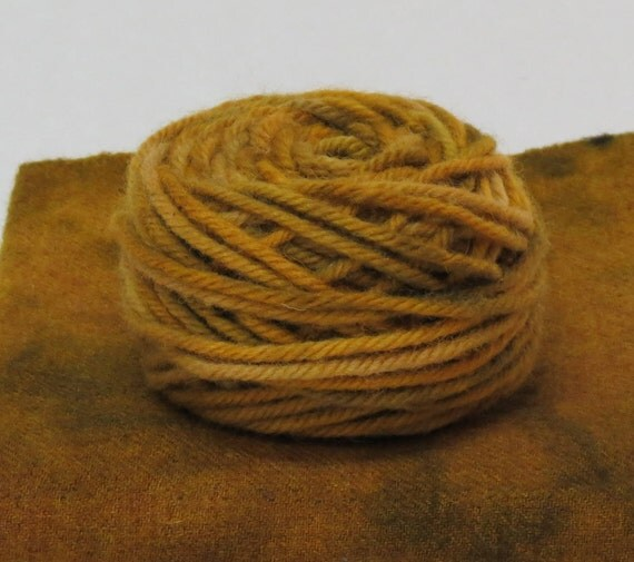 HARVEST, 100% Wool, 2 oz 43 yards, 4-Ply, Bulky weight or 3-ply Worsted weight yarn, already wound into cakes, ready to use, made to order.